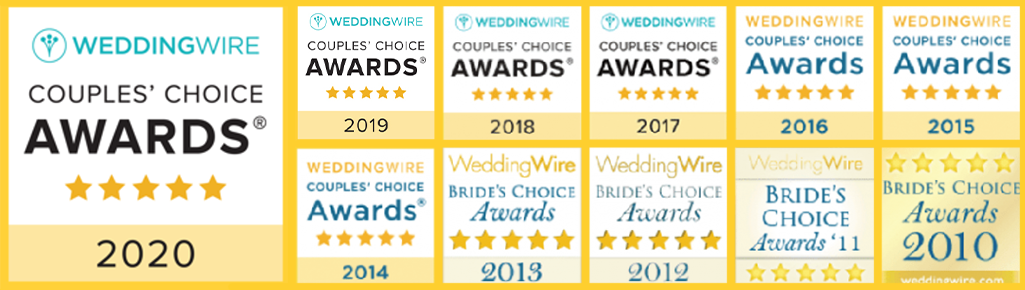 WeddingWire Awards Badges 11 Years