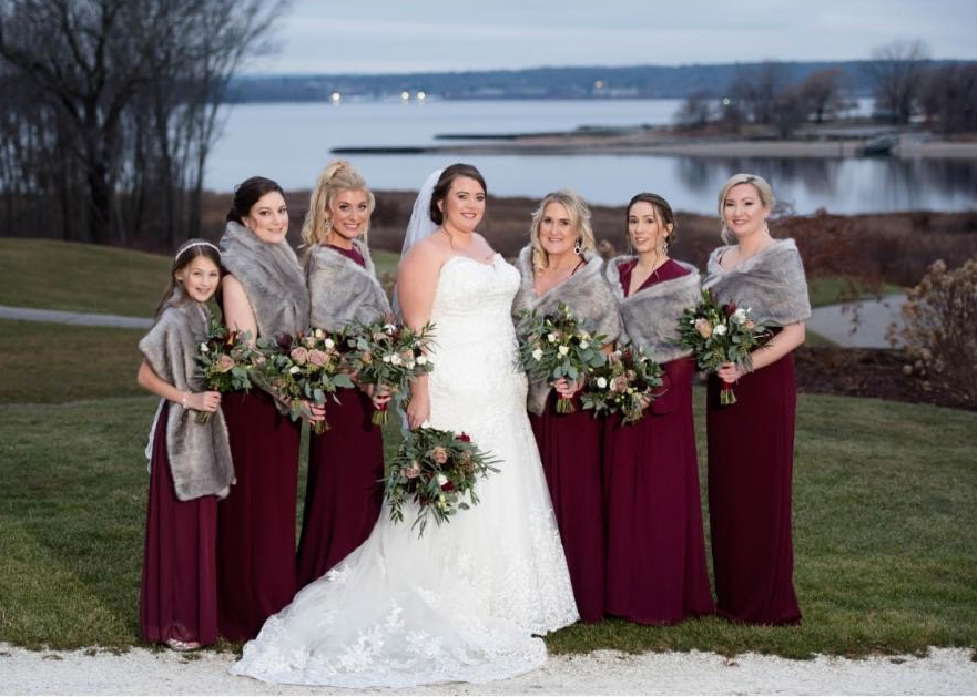 Lynda Williams Beauty Bridal Party with flower girl